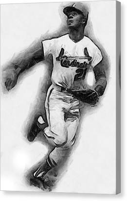 Curt Flood Canvas Print by Anthony Caruso
