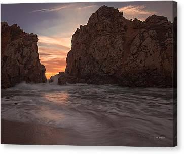Curtain Call At Big Sur Canvas Print by Tim Bryan