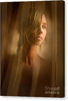 Character Study Canvas Print - Curtain Girl by Robert Foster