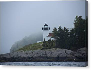 Curtis Island Lighthouse Canvas Print by Daniel Hebard