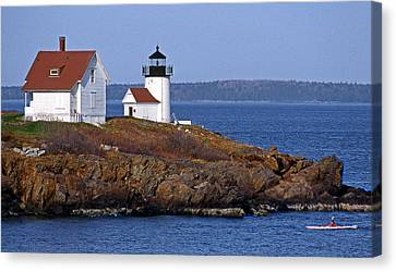 Curtis Island Lighthouse Canvas Print by Skip Willits