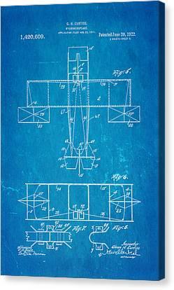 Curtiss Hydroaeroplane Patent Art 3 1922 Blueprint Canvas Print by Ian Monk