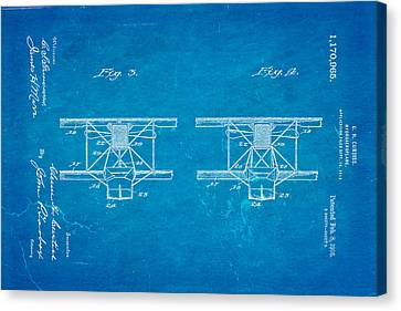 Curtiss Hydroplane Patent Art 3 1916 Blueprint Canvas Print by Ian Monk