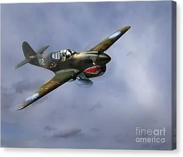 Curtiss P-40 Warhawk Canvas Print by Diane Diederich
