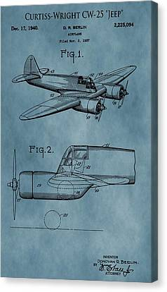 Curtiss-wright Patent Blue Canvas Print