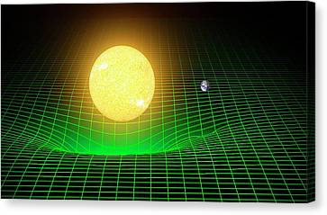 Curvature Of Spacetime Canvas Print