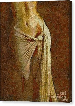 Curve Of A Woman Canvas Print by Dragica  Micki Fortuna