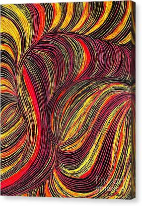 Curved Lines 3 Canvas Print by Sarah Loft