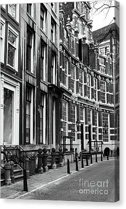 Curved Street Canvas Print by John Rizzuto