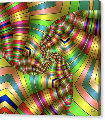 Canvas Print featuring the digital art Curves Ahead by Manny Lorenzo