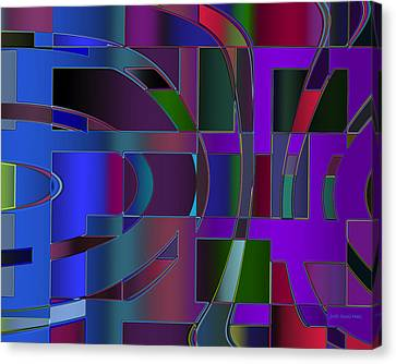 Curves And Trapezoids 2 Canvas Print by Judi Suni Hall
