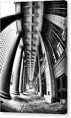 Curves At Union Station Canvas Print by John Rizzuto