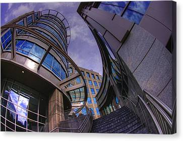 Canvas Print featuring the photograph Reflections And Curves by Dennis Baswell