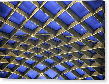 Curvilinear Skylight Structure  Canvas Print by Lynn Palmer