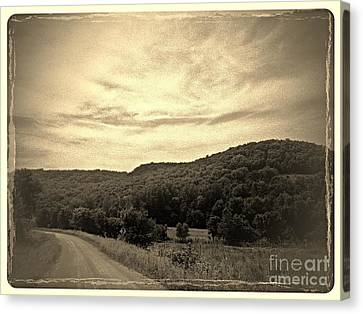 Curvy Road To Nowhere Canvas Print