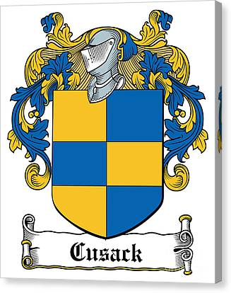 Cusack Coat Of Arms Meath Ireland Canvas Print