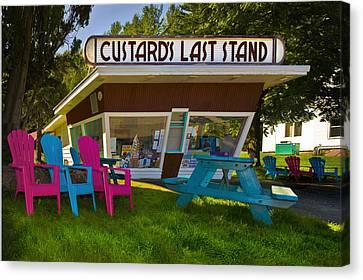 Custard's Last Stand Canvas Print by Gary Warnimont
