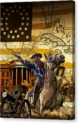 Custer In Chains Canvas Print by Kurt Miller