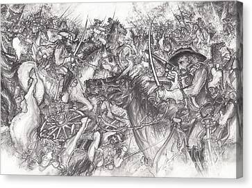 Custer's Clash Canvas Print by Scott and Dixie Wiley