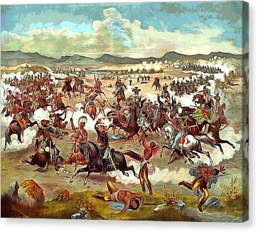 Custers Last Charge Canvas Print by Vintage Image Collection