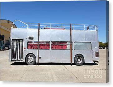 Bus In San Francisco Canvas Print - Custom Artistic Double Decker Bus 5d25357 by Wingsdomain Art and Photography