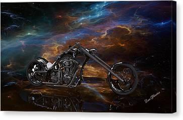 Louis Ferreira Art Canvas Print - Custom Black Chopper by Louis Ferreira