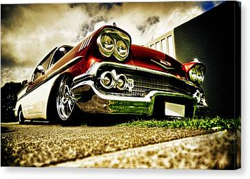Custom Chevrolet Bel Air Canvas Print by motography aka Phil Clark