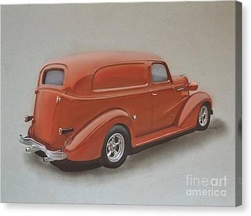 Custom Delivery Truck Canvas Print by Paul Kuras