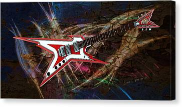 Custom Guitar  Canvas Print