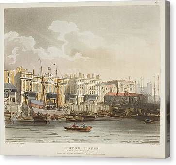 Custom House Canvas Print by British Library