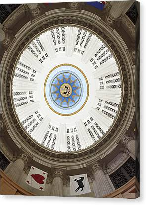 Custom House Tower Ceiling Boston Canvas Print by Norman Pogson