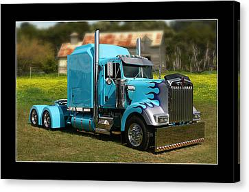 Canvas Print featuring the photograph Custom Kenworth by Keith Hawley