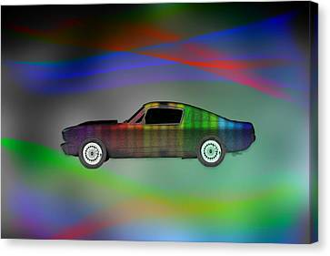 Custom Mustang Canvas Print by EricaMaxine  Price