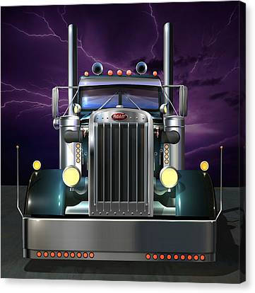 Custom Peterbilt 3 Canvas Print by Stuart Swartz