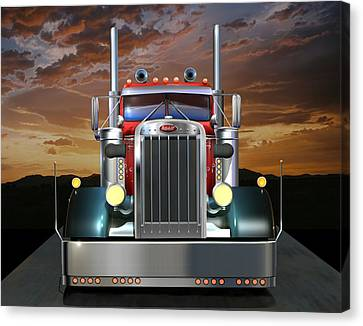 Custom Peterbilt Canvas Print by Stuart Swartz