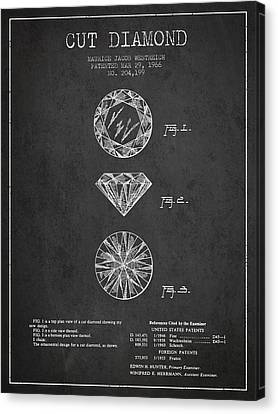 Cut Diamond Patent From 1966 - Dark Canvas Print by Aged Pixel