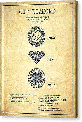 Cut Diamond Patent From 1966 - Vintage Canvas Print