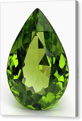 Cut Peridot Gemstone Canvas Print