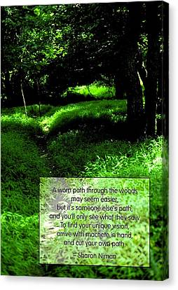 Cut Your Own Path Canvas Print by Mike Flynn