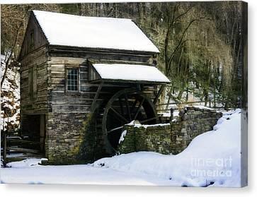 Canvas Print featuring the photograph Cuttalossa Farm In Winter by Debra Fedchin