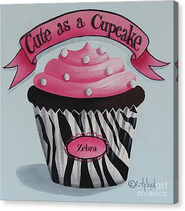 Cute As A Cupcake Canvas Print by Catherine Holman