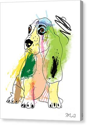 Cute Dog 2 Canvas Print by Mark Ashkenazi