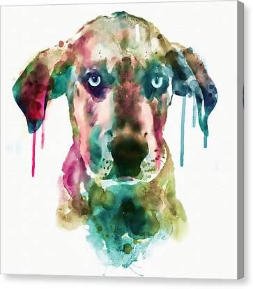 Cute Doggy Canvas Print by Marian Voicu