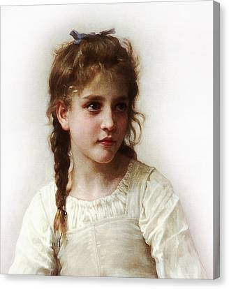 Canvas Print featuring the painting Cute Little Girl by Bouguereau
