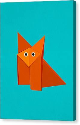 Cute Origami Fox Canvas Print