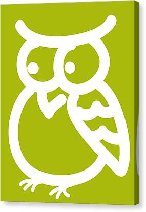 Cute Owl Nursery Print Canvas Print by Nursery Art