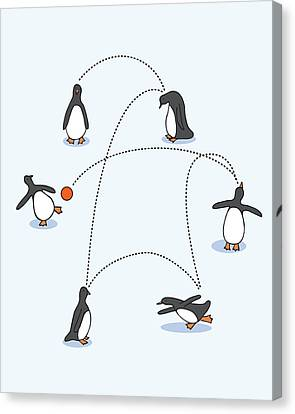 Cute Penguin Art Canvas Print by Christy Beckwith