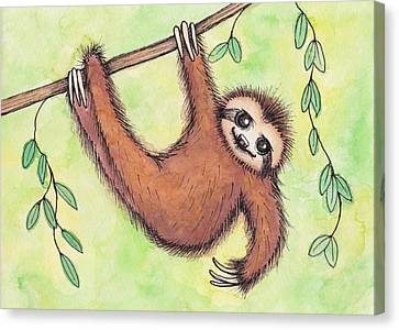 Sloth Canvas Print by Melissa Rohr Gindling