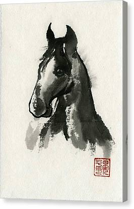 Canvas Print featuring the painting Cutie by Ping Yan
