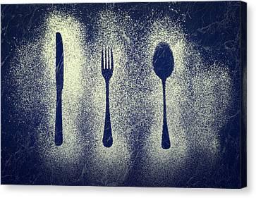 Cutlery Series Canvas Print by Amanda Elwell